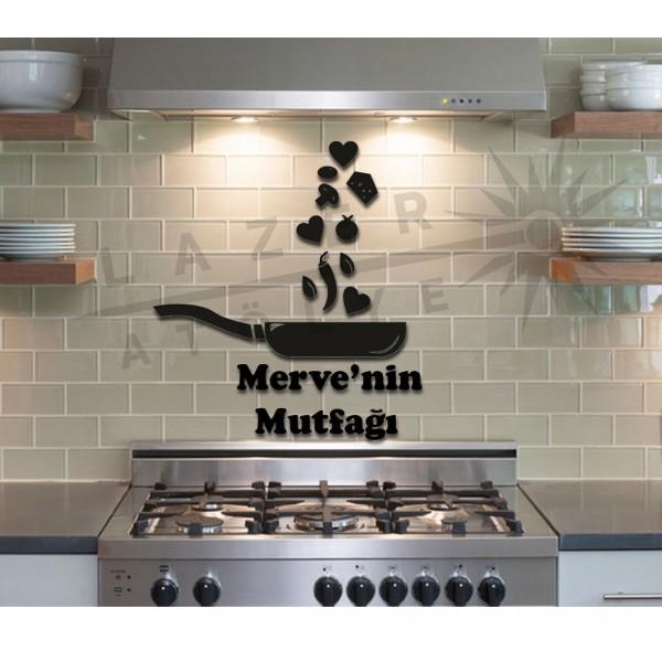 Dekoratif Ahşap Tava Mutfak Süsü Siyah