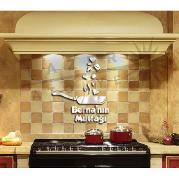 Pleksi Ayna Duvar Tava Mutfak Süsü (İsime Özel)
